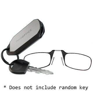 ThinOptics Keychain Case and Reading Glasses - +1.0, Black - THO-24173
