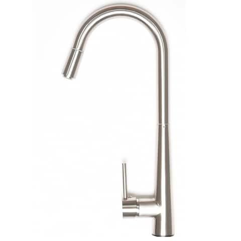 Zenvida Modern Single Handle High Arc Pull Down Lead Free Brushed Nickel Kitchen Faucet