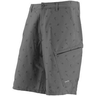 Huk Men's KC Scott Billfish Hybrid Grey Size 40 Lite Shorts