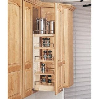 Rev A Shelf 12 in. Wall Pullout Shelving System, Soft Close -