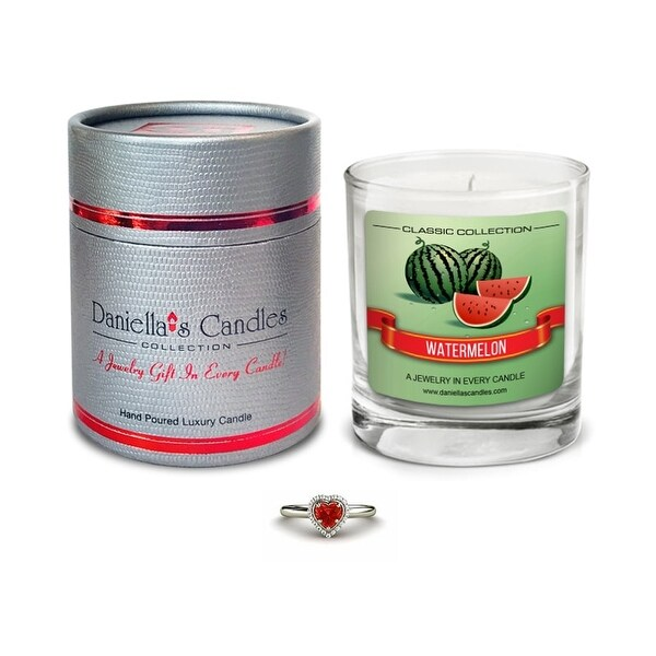 Watermelon Jewelry Candle, Ring Size 6