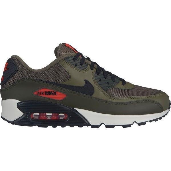 Nike Air Max 90 Essential Medium Olive Black Team Orange (AJ1285 205)