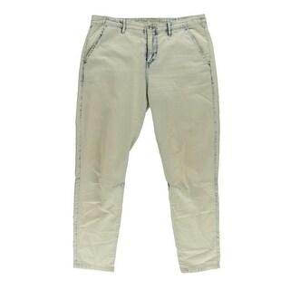 Free People Womens Chambray Denim Trouser Pants - 2