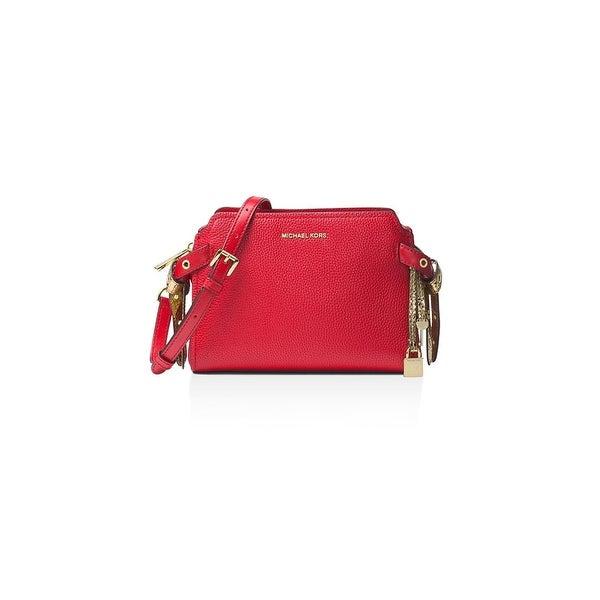 6db6b0f13715 MICHAEL Michael Kors Womens Bristol Messenger Handbag Leather Crossbody -  Medium