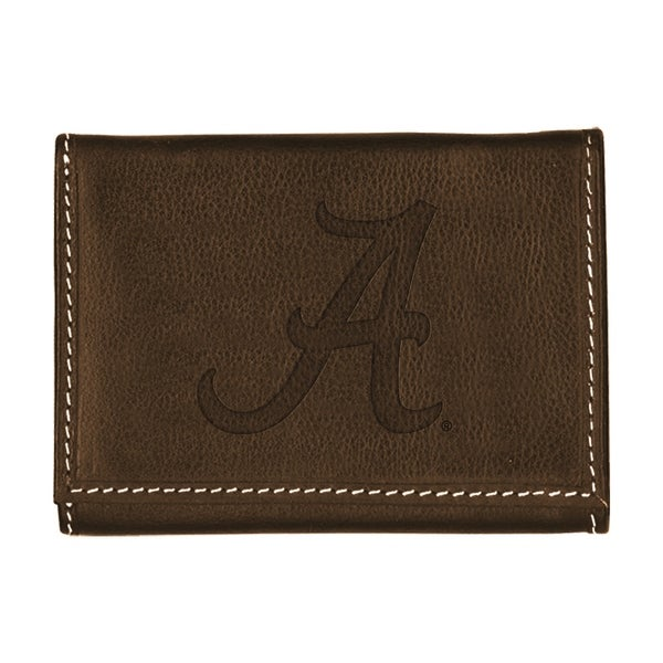 University of Alabama Contrast Stitch Trifold Leather Wallet