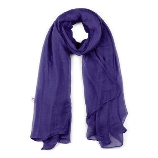 Link to Long Warm Shawl Large Soft Solid Color Scarf for Women Men -1 - Dark Purple Similar Items in Scarves & Wraps