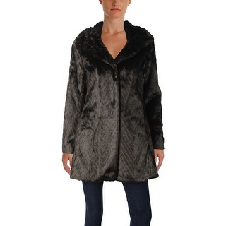 Ellen Tracy Womens Faux Fur Coat Winter Fashion