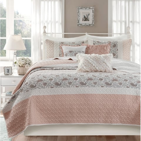 Madison Park Vanessa Cotton Percale 6-piece Reversible Coverlet Set
