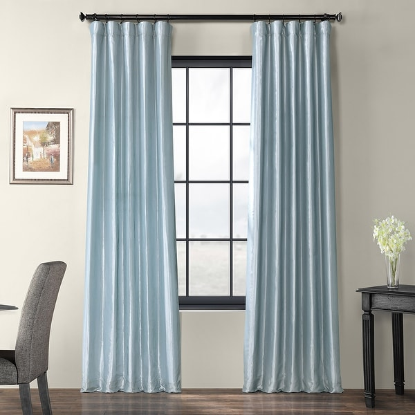 Exclusive Fabrics Faux Silk Taffeta Curtain. Opens flyout.