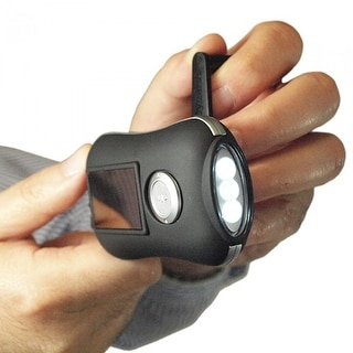 Miniflash Solar & Crank Flashlight Bright And Compact Portable Light