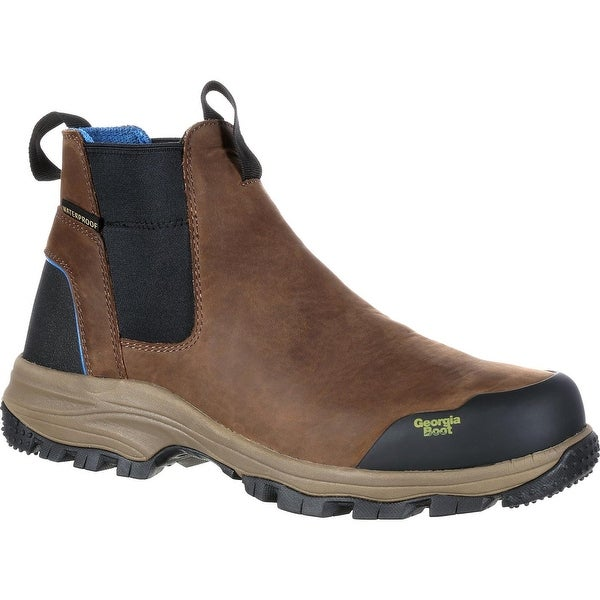 Georgia Boot Blue Collar Waterproof Romeo Pull-On Work Boot. Opens flyout.