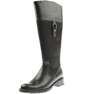 Blondo Womens Vitalia Knee-High Boots Leather Pebbled