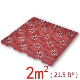 """vidaXL Garden Tiles Plastic Floor 11.4""""x11.4"""" 24 pcs"""