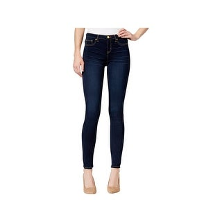 Dittos Womens Juniors Mary Skinny Jeans Dark Wash Mid-Rise