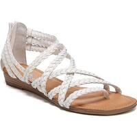 Carlos by Carlos Santana Women's Amara 2 Strappy Sandal White Leather