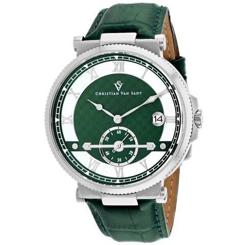 Christian Van Sant Men's Clepsydra Green Dial Watch - CV1701 - One Size