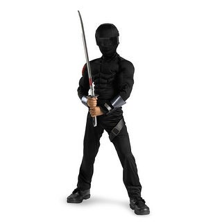 Disguise G.I. Joe Snake Eyes Classic Muscle Child Costume - Black - 4-6
