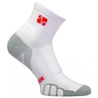VT 0710 Mountain Bike Quarter Running Socks, White-Silver -