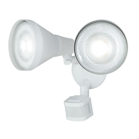 Gamma White 2L Motion Sensor Dusk to Dawn Outdoor Security Flood Light - 13.25-in W x 10-in H x 8-in D