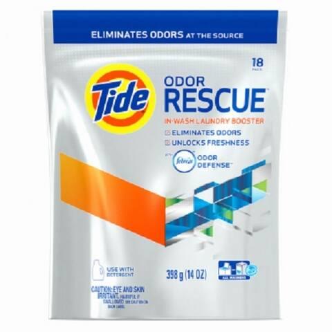 Tide 962236 Odor Rescue Pods with Febreze Odor Defense, 18-Count