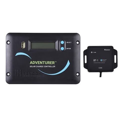 Renogy Adventurer-Li 30A Negative-Ground PWM Flush Mount Charge Controller w/LCD Display - Compatible with batteries