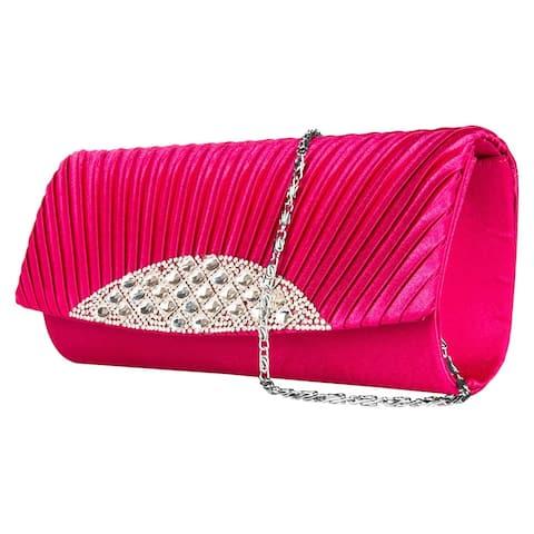 Magnetic Lock Wallet Purse Hand Clutch Luxurious Shoulder Bag