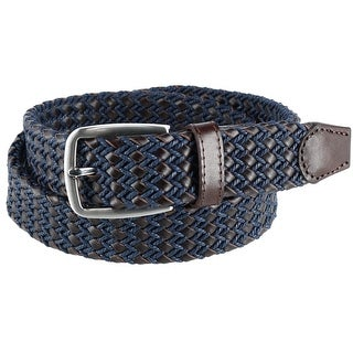 Ascentix Men's Leather and Waxed Cotton Braided Belt