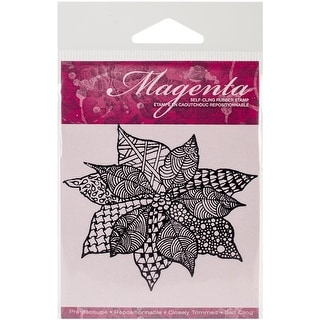 "Magenta Cling Stamps 3""X3.25""-Zentangle Poinsettia"