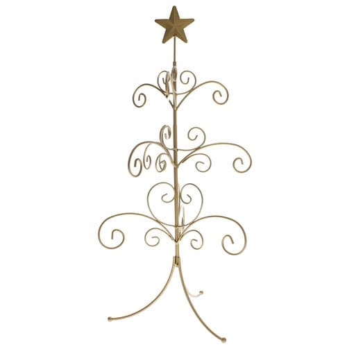 Gold Star Ornament Tree Ornament