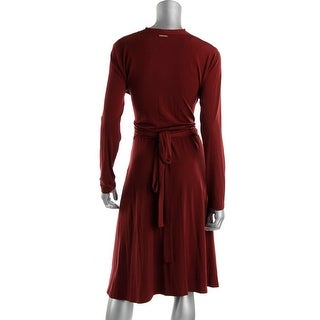 Michael Kors Womens Stretch Long Sleeves Formal Dress