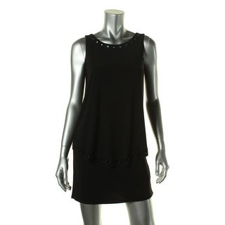 Laundry by Shelli Segal Womens Cut-Out Embellished Cocktail Dress - 0