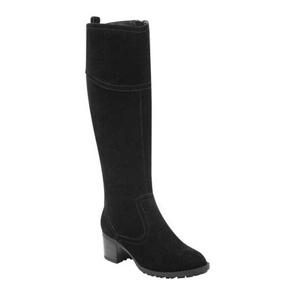 9adcbf88810 Shop Easy Spirit Women s Grazes Tall Wide Calf Boot Black Suede ...