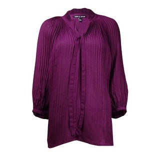 Link to Cable & Gauge Women's Pleated Neck-Tie Crepe Top Similar Items in Tops