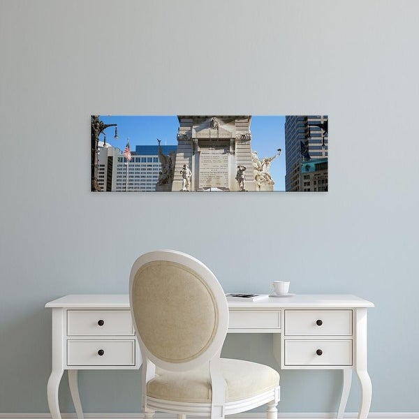 Easy Art Prints Panoramic Images's 'Monument, Soldiers' and Sailors' Monument, Indianapolis, Indiana' Canvas Art