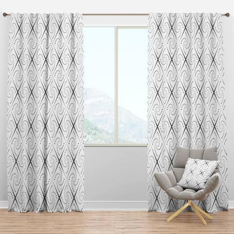 Designart 'Retro Geometrical Abstract Minimal Pattern III' Mid-Century Modern Blackout Curtain Panel