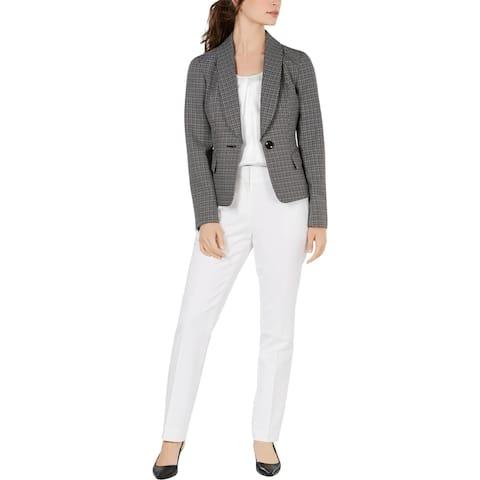 Le Suit Womens Pant Suit 2 PC Professional - Black/White