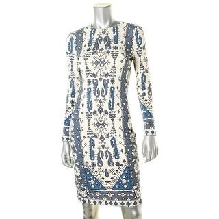 Tory Burch Womens Printed Long Sleeve Casual Dress