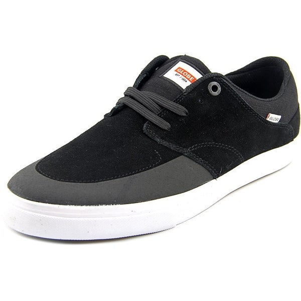 Globe Chase Men Round Toe Leather Black Skate Shoe