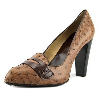 Tod's Lulu Masch Pelle Bordino Open Toe Leather Platform Heel