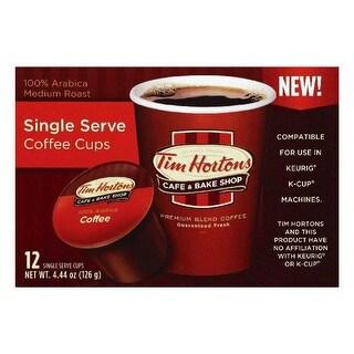 Tim Hortons Medium Roast Single Serve Coffee, 12 ea (Pack of 6)