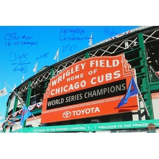 Chicago Cubs 2016 Coaching Staff Cubs Wrigley Field World Series Champs Day Time Marquee 16x20 Phot