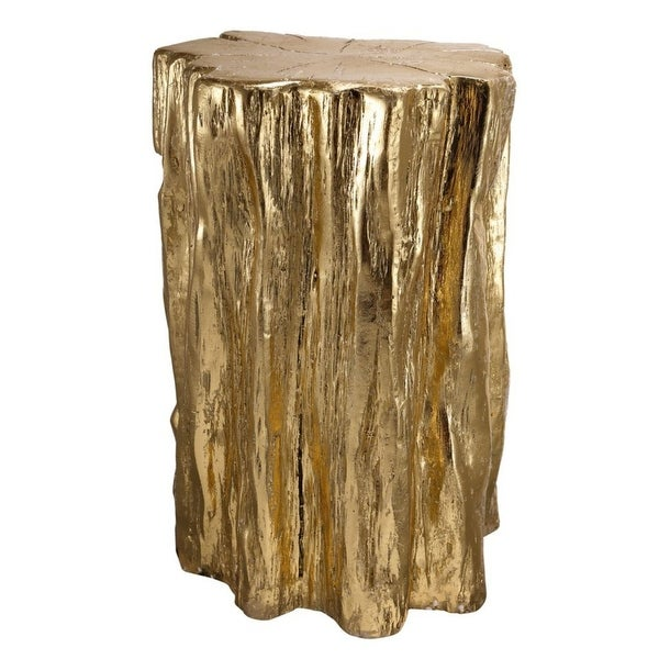 """20"""" Gold and Brown Contemporary Style Tree Trunk Stool - N/A"""