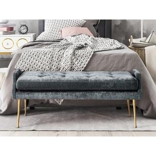 Link to Eileen Grey Slub Velvet Bench Similar Items in Living Room Furniture
