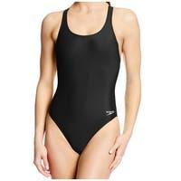 Speedo Black Womens Size 6 One-Piece Super Pro Racerback Swimsuit