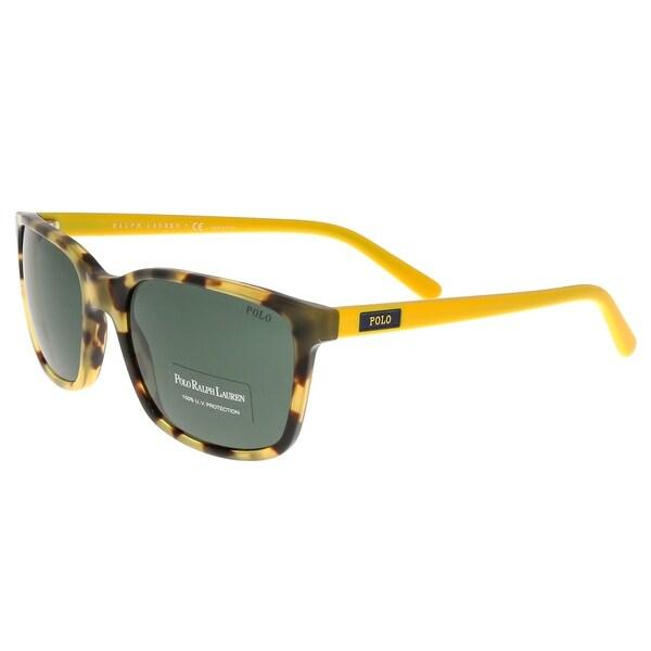 d9d8a53b382d Ralph Lauren PH4103 554871 Havana/Yellow Rectangle Sunglasses - 56-19-145