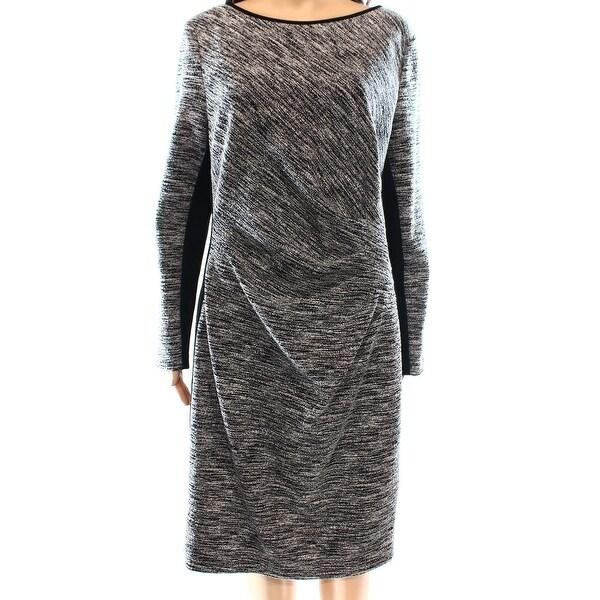 Lauren by Ralph Lauren Womens Marl-Knit Sheath Dress