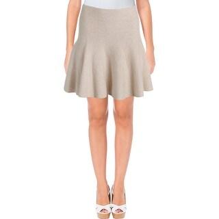1.State Womens Knit Skirt Flounce Hem Heathered - M
