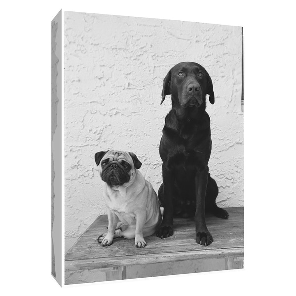 """PTM Images 9-154981 PTM Canvas Collection 10"""" x 8"""" - """"Waiting"""" Giclee Dogs Art Print on Canvas"""