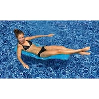 """47"""" Blue Mesh Foldable Flip and Float Swimming Pool Lounger Raft"""