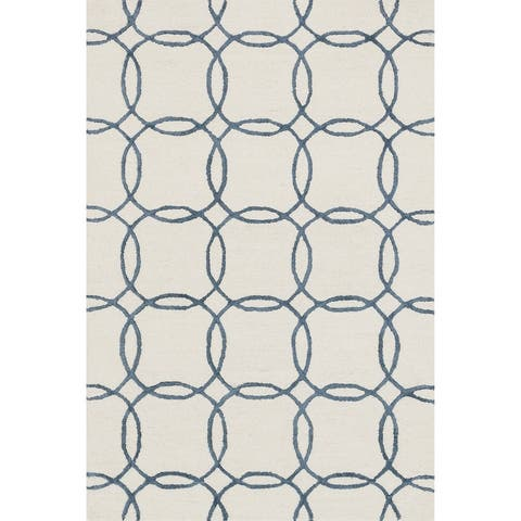 Alexander Home Carolyn Hand-hooked Geometric Wool Rug